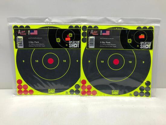 "Lot Of 2 5 Pack 12"" Splatter Shot Targets"