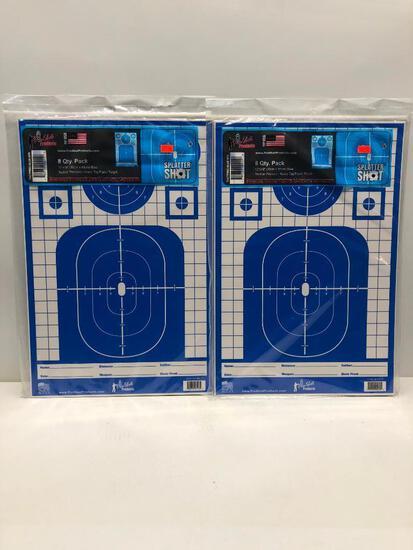 Lot of 2 8 Pack 12x18 Splatter Shot Targets