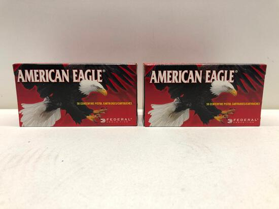 Lot Of 2 Boxes American Eagle 38 Special 130 Grain Full Metal Jacket Ammo - 100 Rounds