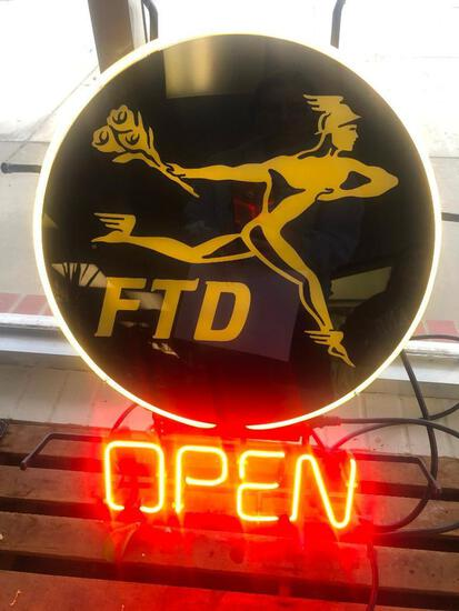 FTD Neon Open Sign in Working Condition