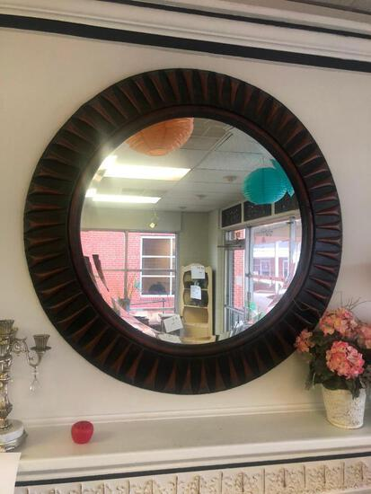 Large Mirror with Rustic Bronze Detailing