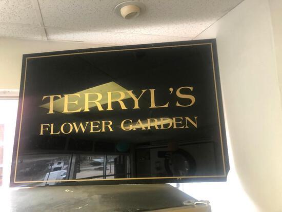 Terryl's Flower Garden Sign, Approx. 28in x 36in
