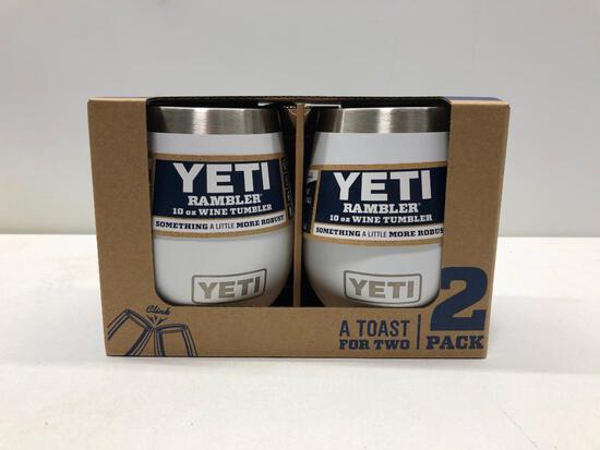 Pack Of Two Yeti White 10oz Wine Tumblers