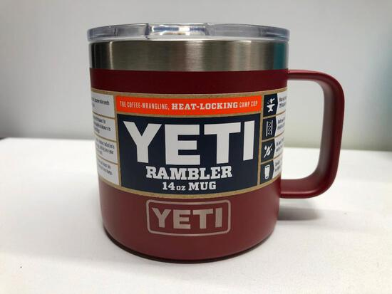 Yeti Brick Red 14oz Rambler Mug