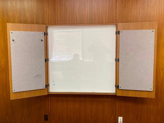 White Board Cabinet, Wall Mounted, 48in x 48in