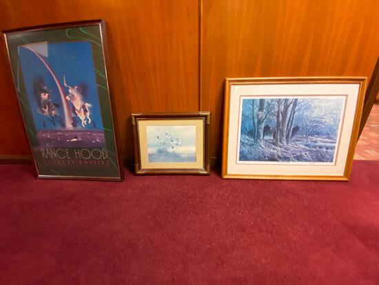 """Three (3) Framed Prints, D. Johnson """"Woodland Memories"""" No. 224/500 & 2 Others"""