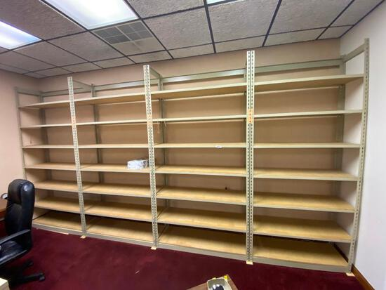 Lot of 4 Sturdy Shelving Units, 96in x 42in x 15in