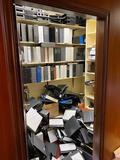 Contents of Room, Hundreds of 3-Ring Binders, Some Office Supplies & Strong Boxes