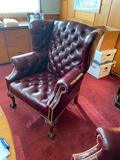 Lot of 3 Nice Vintage Leather Office Chairs