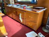 Ten Drawer Wooden File Cabinet