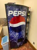 Pepsi-Cola Coin Op Vending Machine w/ Dollar Changer, No Key, Working
