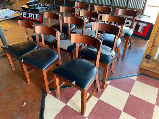 Lot of 12 Restaurant Chairs, Cushions have some rips, tears or spots. All 12 for One Price