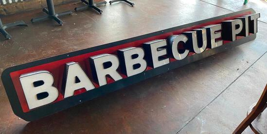 Barbecue Pit Sign - Approx. 8ft