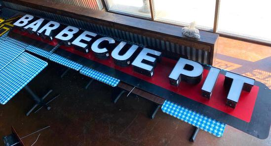 Barbecue Pit Sign - Approx. 12ft