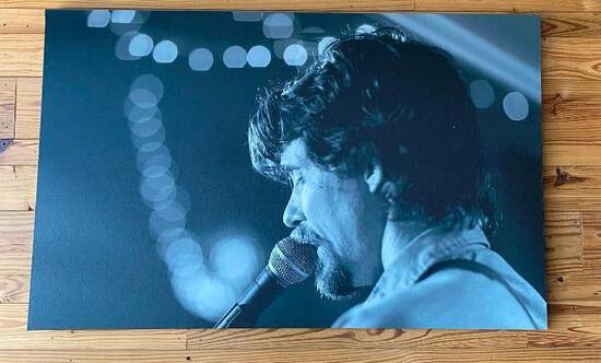 Large Wrapped Canvas Texas Print on Wood Frame Featuring Texas Country Singer Zane Williams