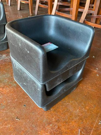 Lot of 2 Cambro No. 100BC Booster Chairs/Booster Seats