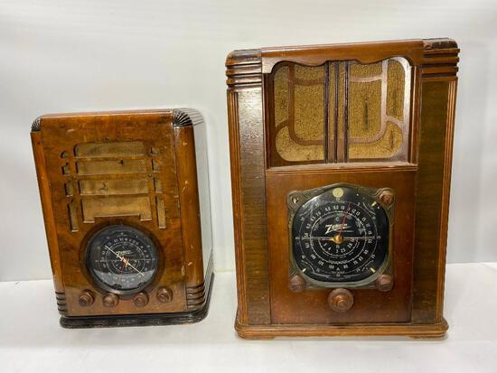 Two Vintage Long Distance Radios by Zenith,