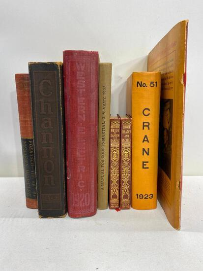 Vintage Military Related Books and Pamphlets, See Images for Details and Titles