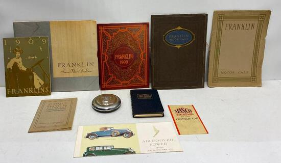 Rare Collection of Early Franklin Motor Cars Promo Brochures, Catalogs, Manuals, Booklets