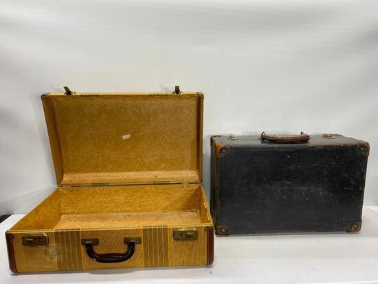 Two Vintage Luggage Totes