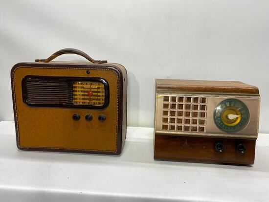 Two Vintage Radios, Philco Model 41-851 Suitcase & Emerson Model 504