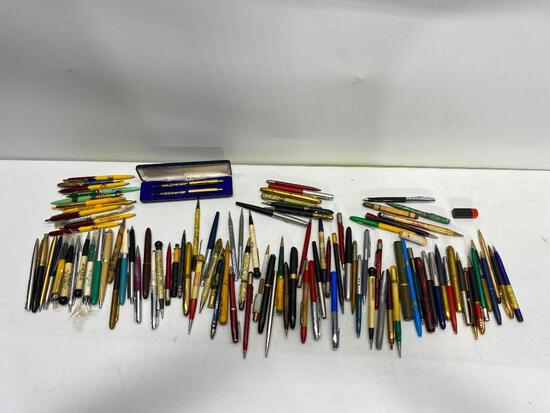 Large Group of Advertising Pens & Pencils, Fountain Pens, Mechanical Pencils