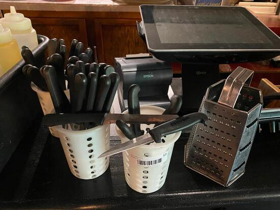 30 Steak Knives, 4 Paring Knives, Cheese Shredder