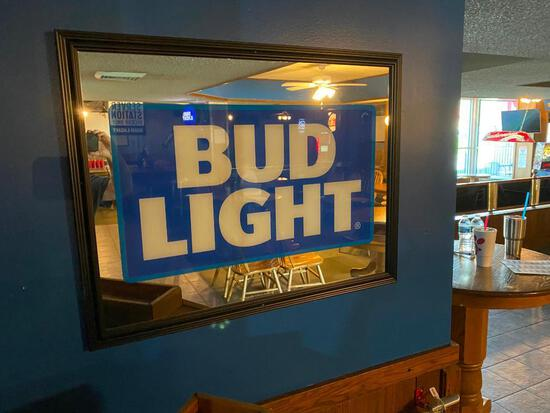 Bud Light Mirror 35 in. x 27 in.