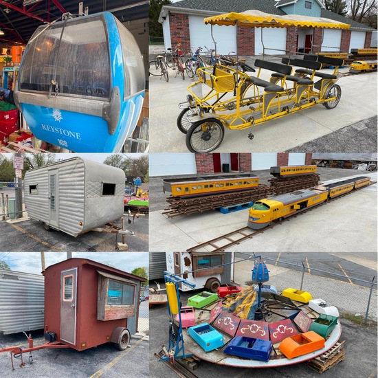 1950's Amusement Park Rides, MTC G12 UP Train +++