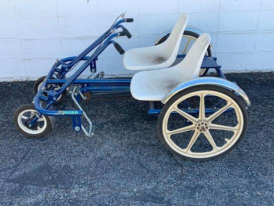 Vintage Two Person Cycle w/ Mag Wheels