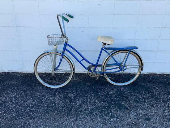 Vintage Girls Bicycle with Basket