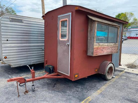 Concession Trailer, Originally a Dippin' Dots Trailer, Repainted in Rustic Hillbilly Theme and Style