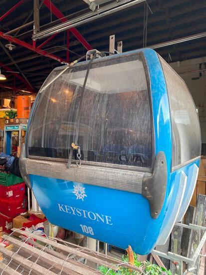 Original Keystone Ranch Colorado Gondola Ski Gondola, 6 Seats, Pneumatic Doors