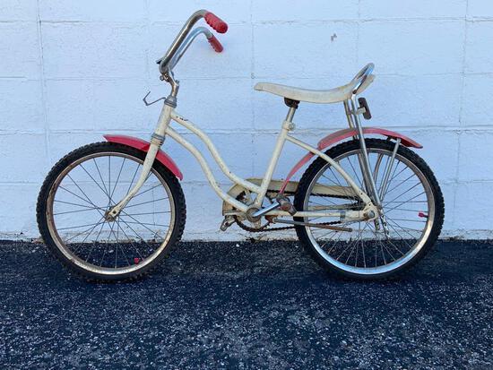 """Vintage Girls Bicycle """"Cactus Rose"""" with Banana Seat"""
