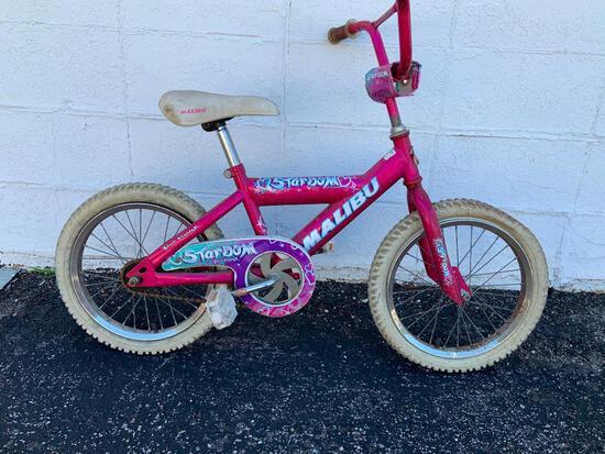 Malibu Stardom Star Struck Little Girls Bicycle