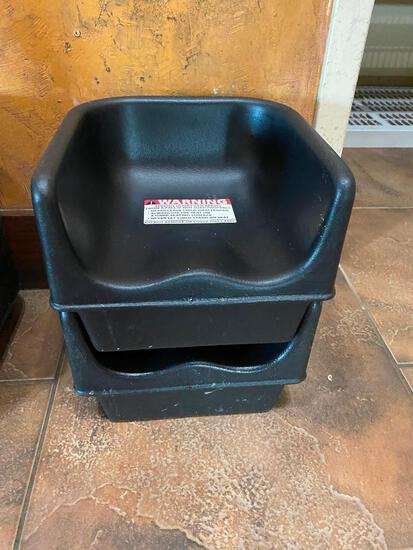 Lot of 2 Cambro 100BC - Booster Chairs
