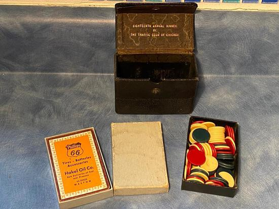 Vintage Poker Set, Eighteenth Annual Dinner of the Traffic Club of Chicago