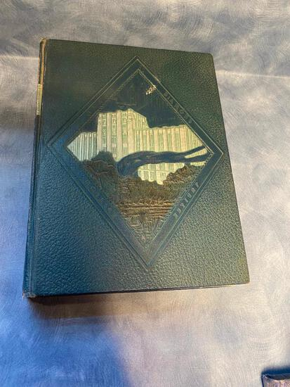 1932 Creighton University Yearbook w/ Beautiful Embossed Bluejay and Writing