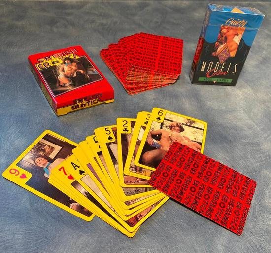 Erotica Playing Card Decks, Swedish Erotica, NOS Gaiety 54 Models Colour Adult Cards
