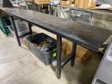 Solid Steel Work Table or Work Bench from TSG, Held Ammo 78in x 36in x 18in Nice & Sturdy