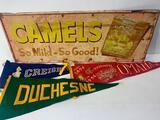 Duchesne High School, Creighton University, Omaha Centennial Pennants, Vintage Camel Cigarettes Tin