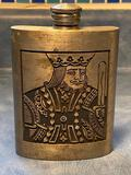 King of Cards, Heavy Metal Whiskey Flask, Made in Thailand