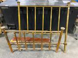 Twin Brass Head and Footboard with Adjustable Frame, 52in Wide