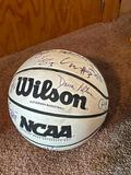 Autographed Creighton Bluejay Basketball, Nate Funk, Dana Altman, Booker Woodfox, P'Allen Stinette