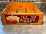 M&R Cherries Wooden Fruit Crate w/ Four Aces Cards Theme - Hard to Beat