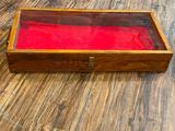 Countertop Showcase, Wood w/ Glass Top - 24in x 12in x 4in