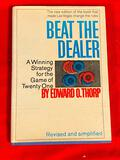 1966 Edition - Beat the Dealer by Edward Thorp - Blackjack Bible w/ Dust Cover