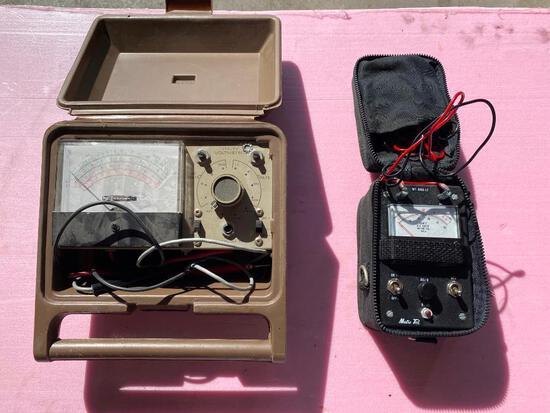 Heathkit Utility Solid-State Voltmeter Model Number: IM-17; Metro Tel OHM Metter