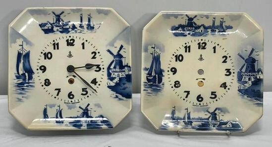 Becker German Plate Clock with Extra Face Plate