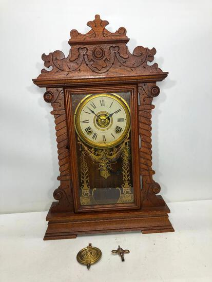 "Oak Parlor Seth Thomas Clock 23.5""x13.5"""